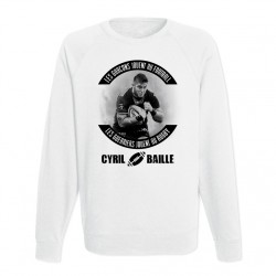 Sweat adulte blanc RUGBYMEN - Cyril Baille