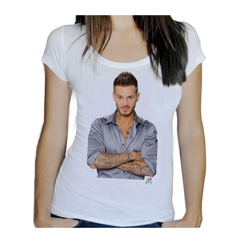 t shirt femme blanc m pokora ketshooop t shirts anniversaires rigolos humour d cal s. Black Bedroom Furniture Sets. Home Design Ideas