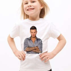 T-Shirt Enfant Blanc Pokora naturel