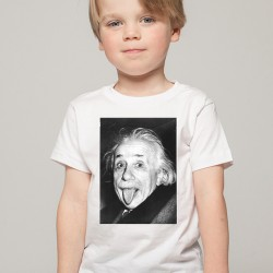 T-Shirt Enfant Blanc Fan de ... Albert Einstein