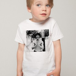 T-Shirt Enfant Blanc Fan de ... Bruce Lee