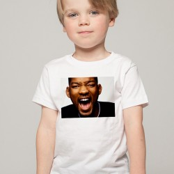 T-Shirt Enfant Blanc Fan de ... Will Smith