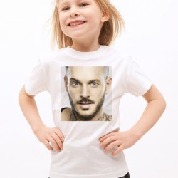 T-Shirt Enfant Blanc Fan de ... Pokora