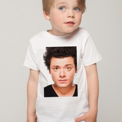 T-Shirt Enfant Blanc Fan de ... Kev Adams portrait