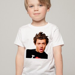 T-Shirt Enfant Blanc Fan de ... Kev Adams