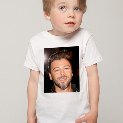 T-Shirt Enfant Blanc Fan de ... Christophe Maé portrait