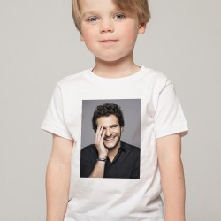 T-Shirt Enfant Blanc Fan de ... Amir portrait