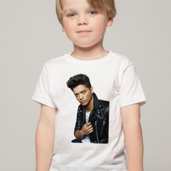 T-Shirt Enfant Blanc Fan de ... Bruno Mars