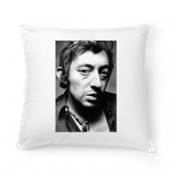 Coussin Fan de ... Gainsbourg black and white