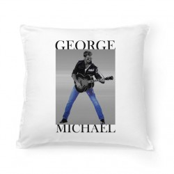 Coussin Fan de ... George Michael guitare