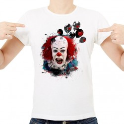 T-Shirt Homme Blanc Pennywise Ça Grunge