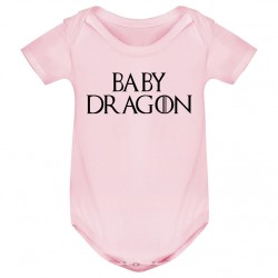 Body bébé Baby dragon - rose