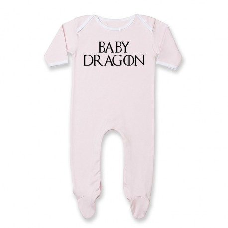 Pyjama bébé Baby dragon - rose