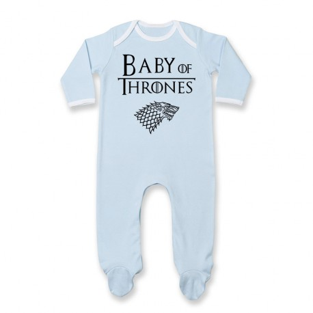 Pyjama bébé Baby of thrones - bleu