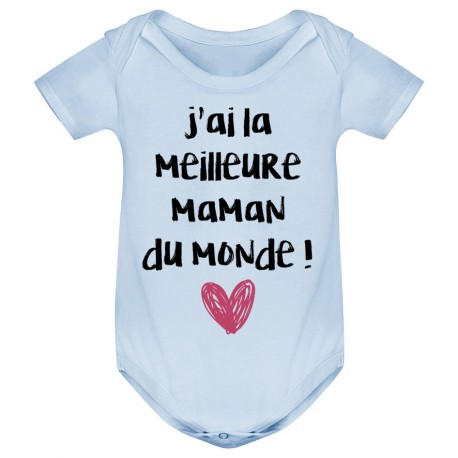 body b b j 39 ai la meilleure maman du monde bleu ketshooop t shirts anniversaires rigolos. Black Bedroom Furniture Sets. Home Design Ideas