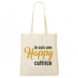 Tote Bag Je suis une Happy-cultrice